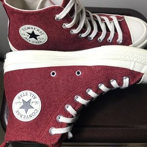 f8924ac4b63d Converse Shoes - Burgundy Wool Converse (urban outfitter exclusive
